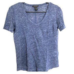 Heather blue v-neck